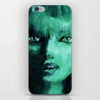 THE GREEN QUICK PORTRAIT iPhone & iPod Skin