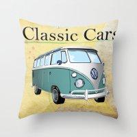 Classic Cars 2 Throw Pillow