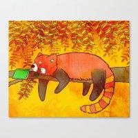 Sleepy Red Panda Canvas Print