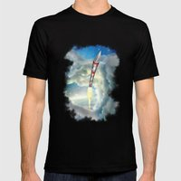 The Remarkable Rocket Mens Fitted Tee Black SMALL