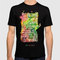 Jorge Luis Borges Mens Fitted Tee Black SMALL