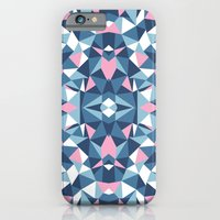 Abstract Collide Blue and Pink iPhone 6 Slim Case