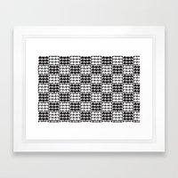Hob Nob Black White Quarters Framed Art Print
