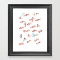 Top Less Beach Framed Art Print