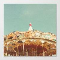 Carousel Lights Canvas Print