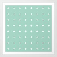 Mint Cross // Mint Plus … Art Print