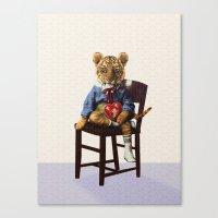 Tiny Tiger Valentine Canvas Print