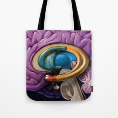 Brain Anatomy Tote Bag