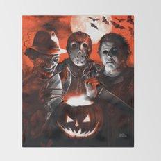 Freddy Krueger Jason Voorhees Michael Myers Super Villians Holiday Throw Blanket