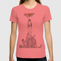 Bird Thought 1 Womens Fitted Tee Pomegranate SMALL