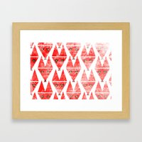 Foxy Pattern Framed Art Print