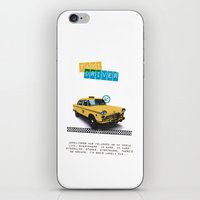 Taxi driver iPhone & iPod Skin