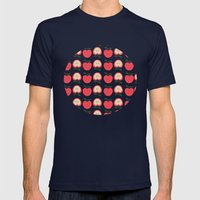 Apple Of My Eye Mens Fitted Tee Navy SMALL