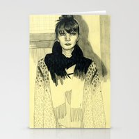 Fashion sketch Stationery Cards
