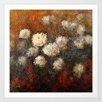 Golden Blossoms Art Print