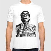 Wiz Khalifa Pen Drawing  Mens Fitted Tee White SMALL