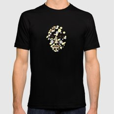 Woman Face Black Mens Fitted Tee SMALL