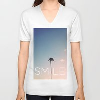 Palm tree Smile Unisex V-Neck