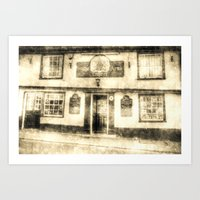 The Coopers Arms Pub Rochester Vintage Art Print