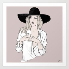 Fashion icon - Kate Moss inspired illustration Art Print