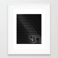 Walking The Line Framed Art Print