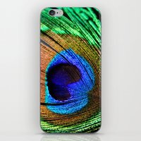 Neon Peacock iPhone & iPod Skin
