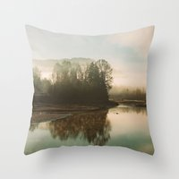 Calm Lake Throw Pillow