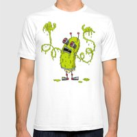Snot Bot Mens Fitted Tee White SMALL