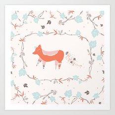 fox & grapes Art Print