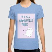 Absolutely Fine Womens Fitted Tee Tri-Blue SMALL