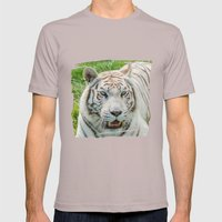 THE BEAUTY OF WHITE TIGE… Mens Fitted Tee Cinder SMALL