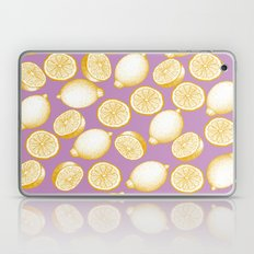 Lemons On Pink Background Laptop & iPad Skin