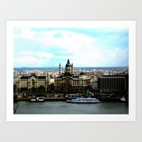 Hungary From Above Art Print