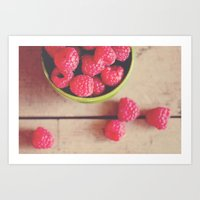 there is something in the red of a raspberry ...  Art Print