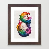Angel Of Colors Framed Art Print