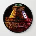 Parisian Mosaic - Piece 21 - The Eiffel Tower Night Light Wall Clock