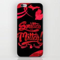 Smitten with the Mitten (Blue Version) iPhone & iPod Skin