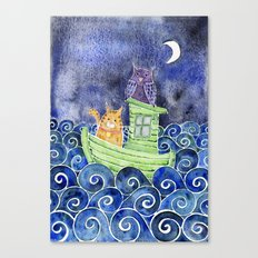 The Owl & The Pussycat Canvas Print