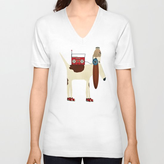 bootleg beagle  V-neck T-shirt