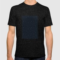 Space Pattern Mens Fitted Tee Tri-Black SMALL