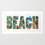 Art Print featuring Beach Art - Beachy Keen … by Sharon Cummings