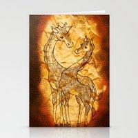 Henna Giraffe Stationery Cards