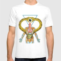 Lingam Mens Fitted Tee White SMALL