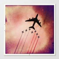 """Canvas Print featuring A380 / """"PATROUILLE DE FRANCE"""" by SABOTAGE"""