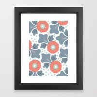 Flowers & Leaves Framed Art Print
