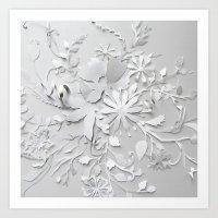 Elegant White Art Print