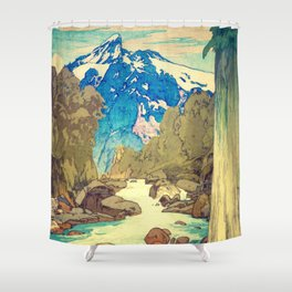 Shower Curtain - The Walk to Hokodoyama - Kijiermono