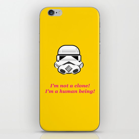I'm not a clone! I'm a human being! iPhone & iPod Skin