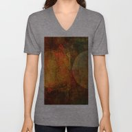 Abstract Moons Unisex V-Neck