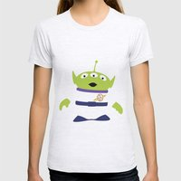 Toy Story Alien Womens Fitted Tee Ash Grey SMALL